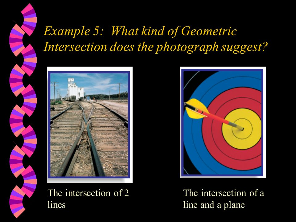 Example 5: What kind of Geometric Intersection does the photograph suggest
