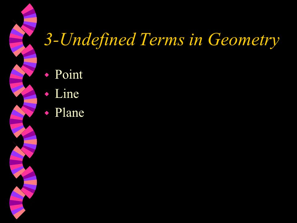 3-Undefined Terms in Geometry