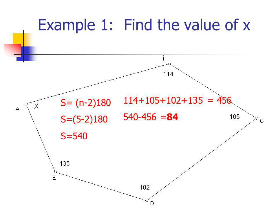 Example 1: Find the value of x