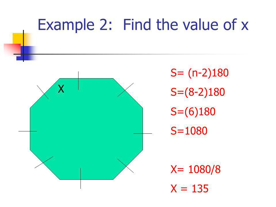 Example 2: Find the value of x