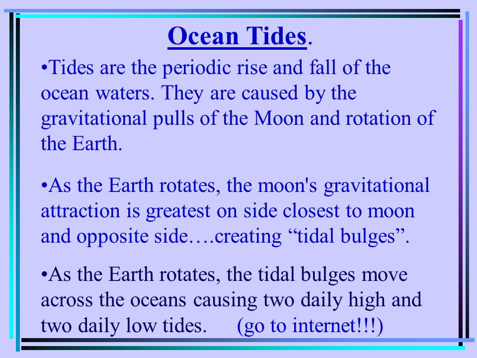 Ocean Tides.