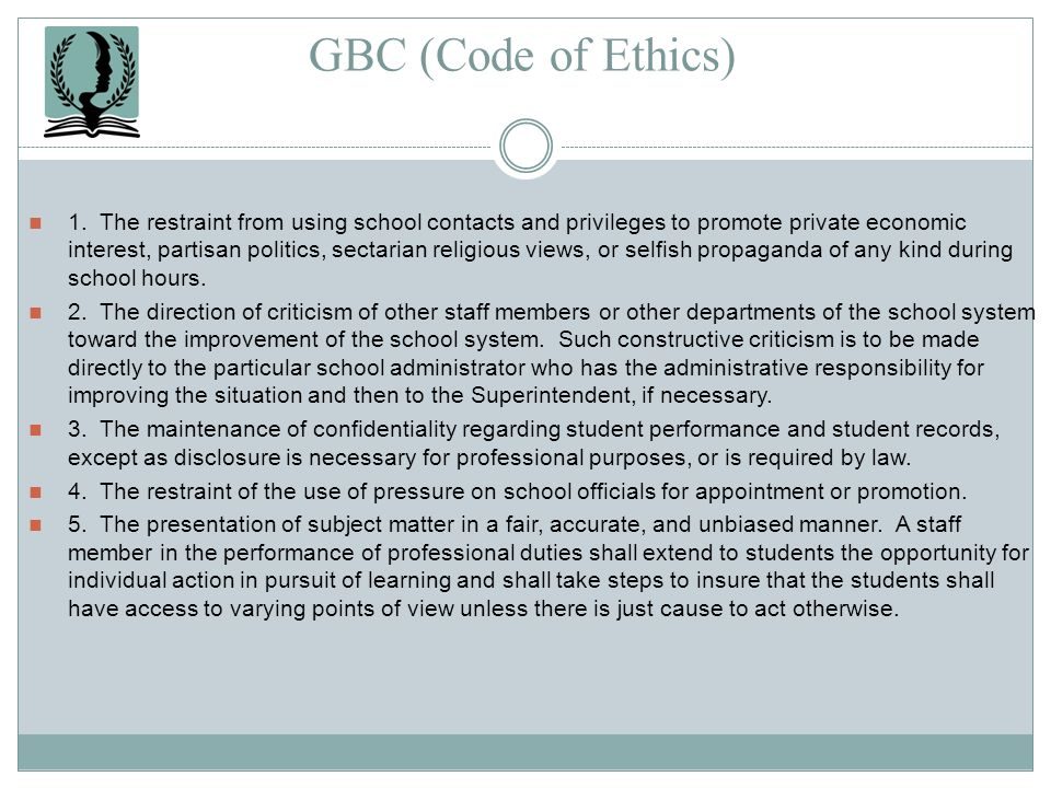 GBC (Code of Ethics)