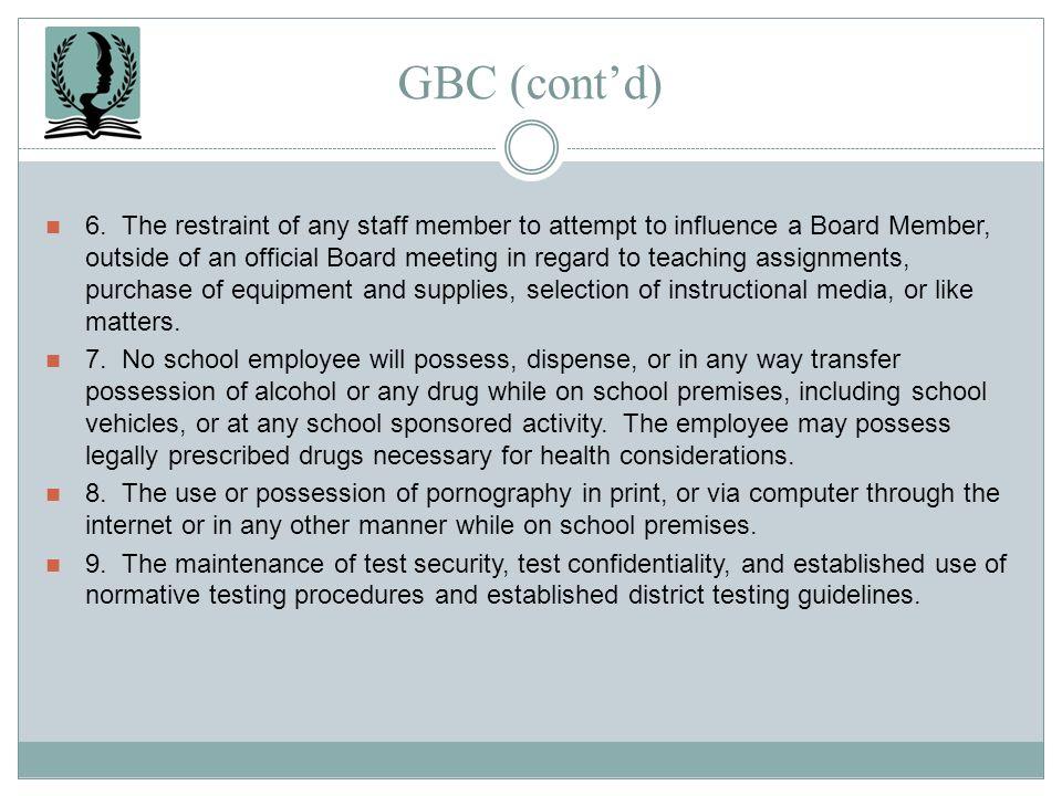 GBC (cont'd)
