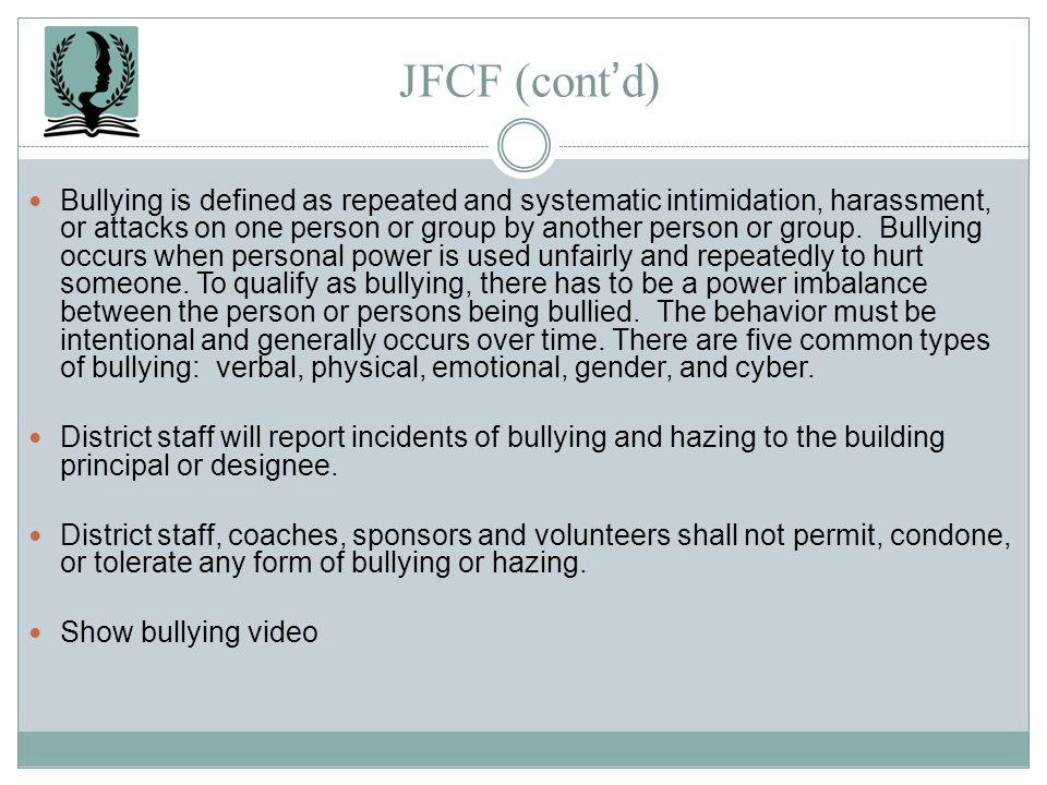 JFCF (cont'd)