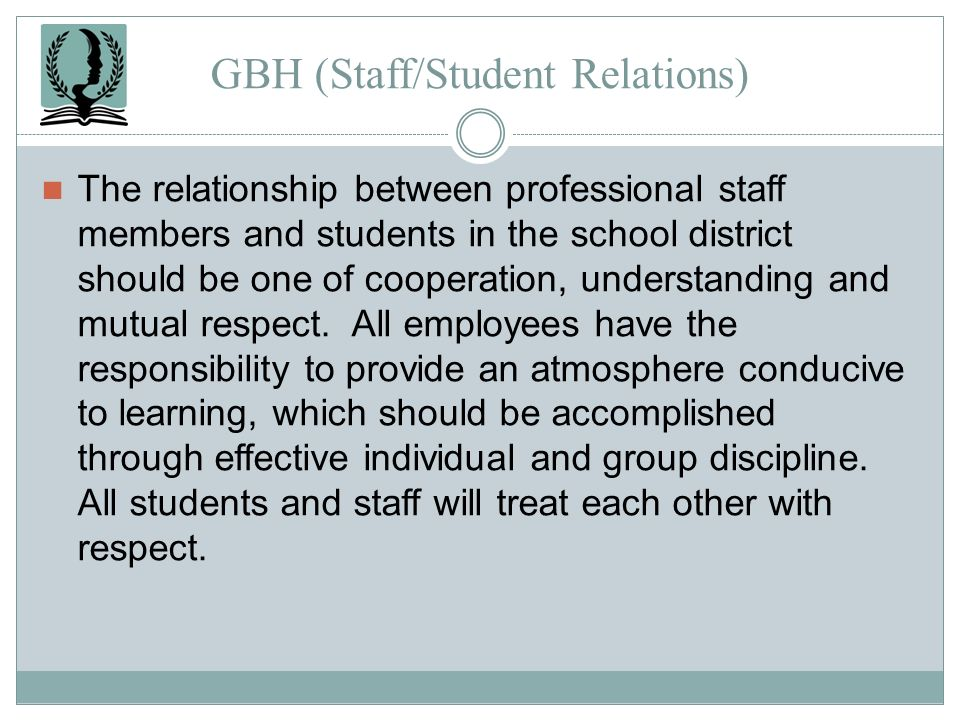 GBH (Staff/Student Relations)