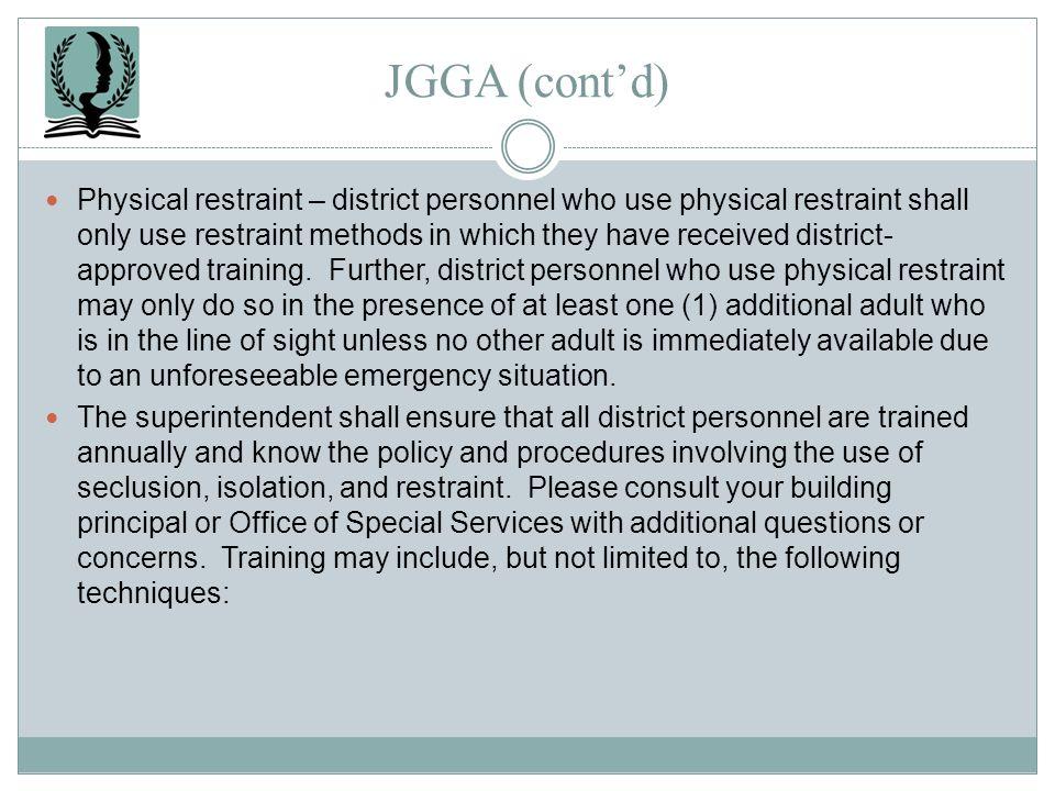 JGGA (cont'd)