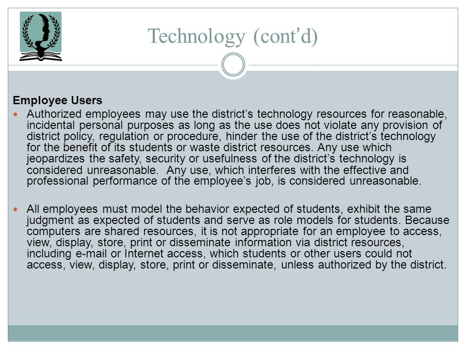 Technology (cont'd) Employee Users