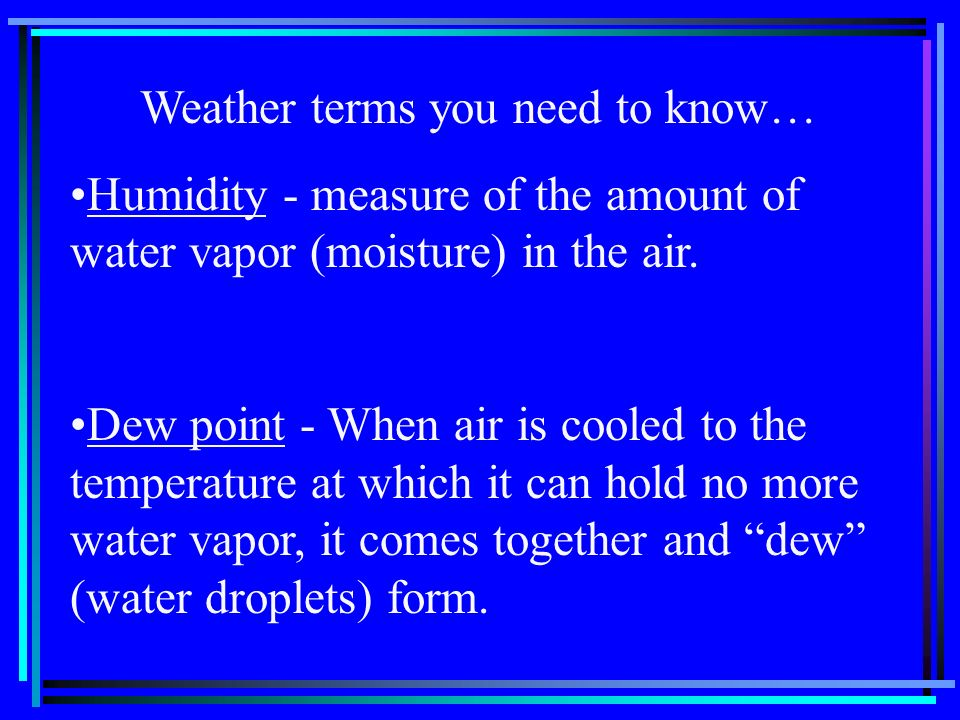 Weather terms you need to know…