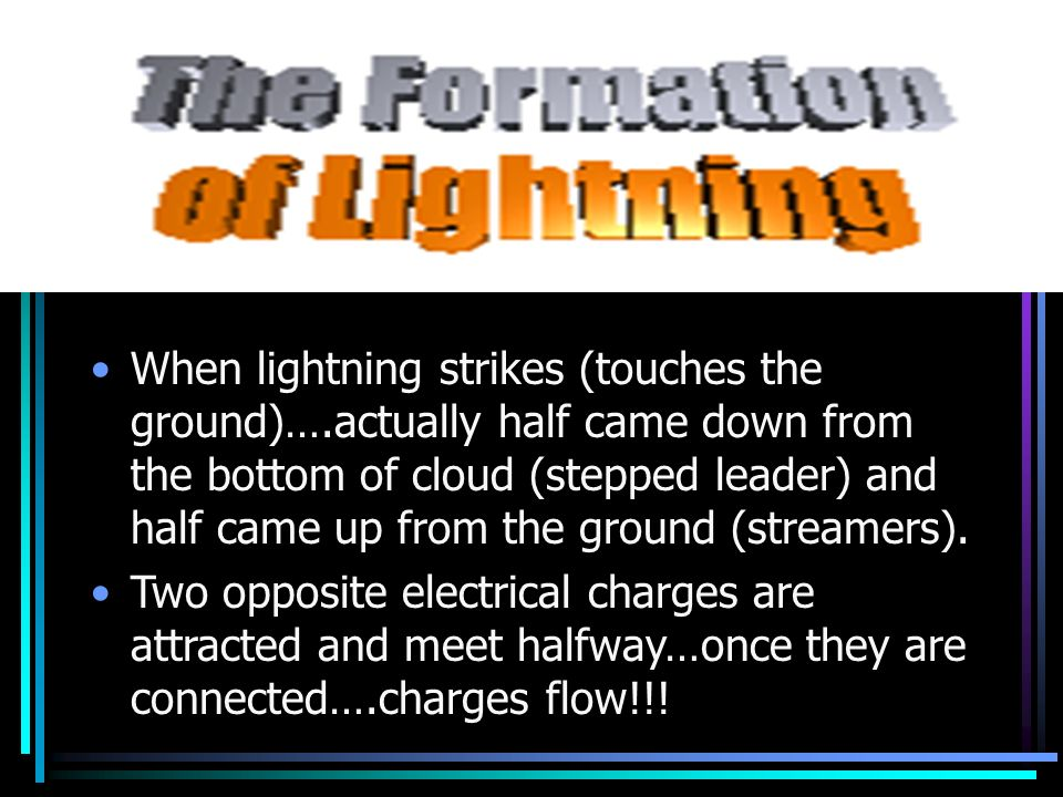When lightning strikes (touches the ground)…