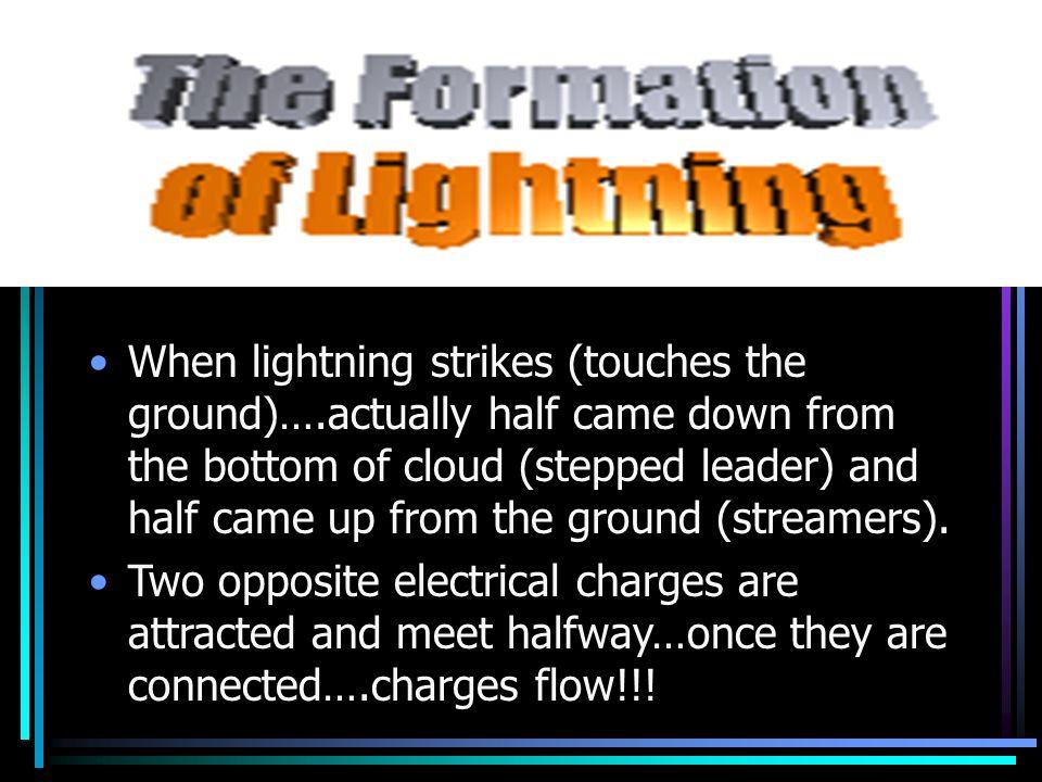 When lightning strikes (touches the ground)…