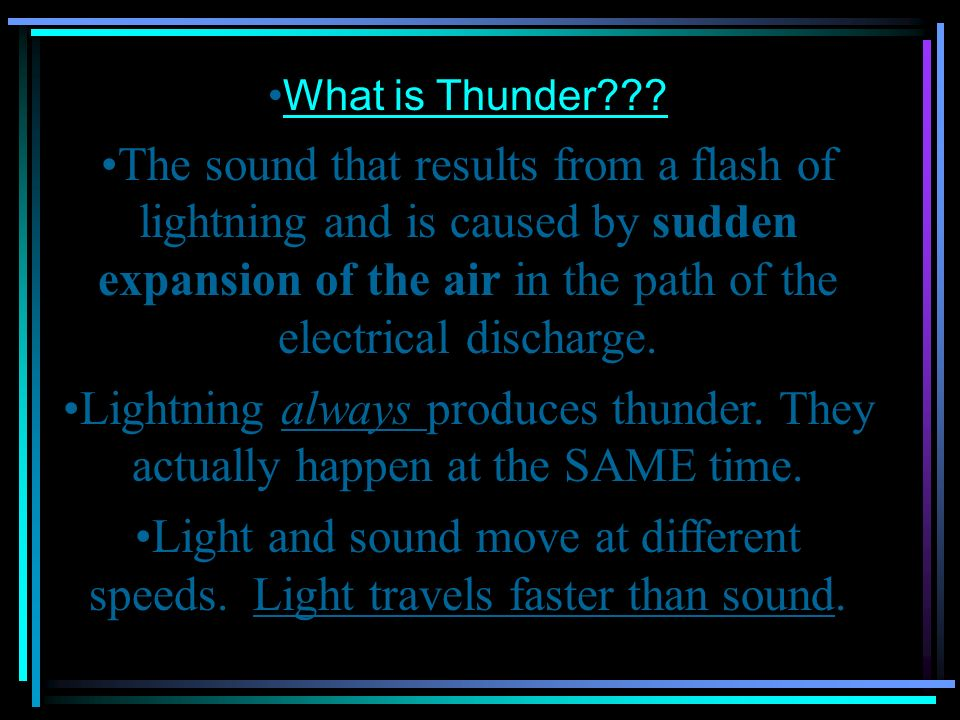 What is Thunder