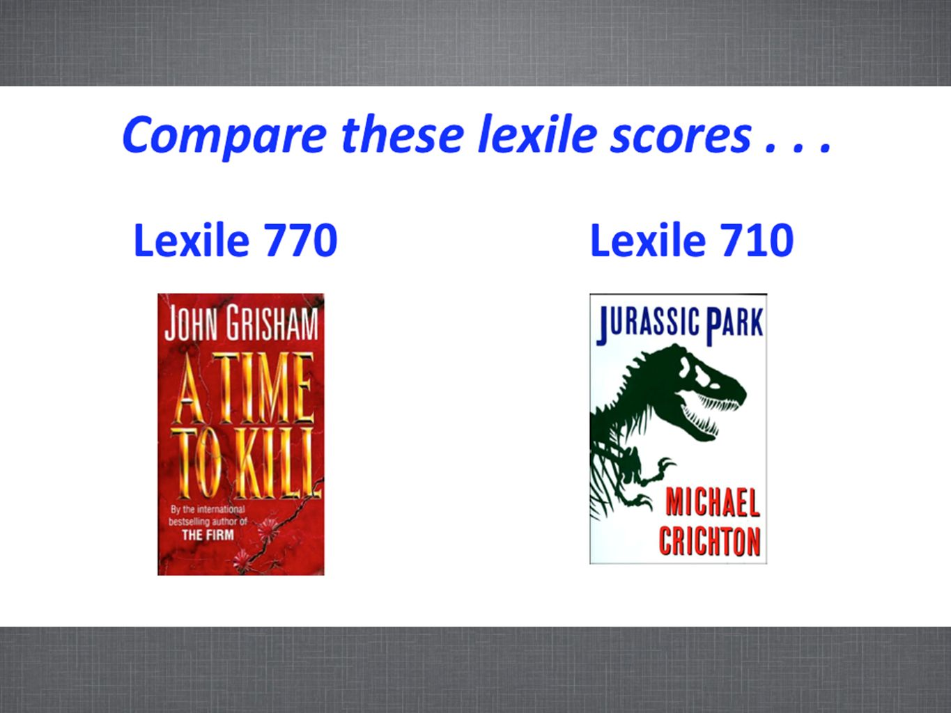 Compare this slide to the next slide.