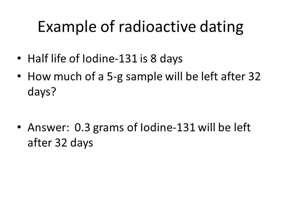 pctures of radioactive dating