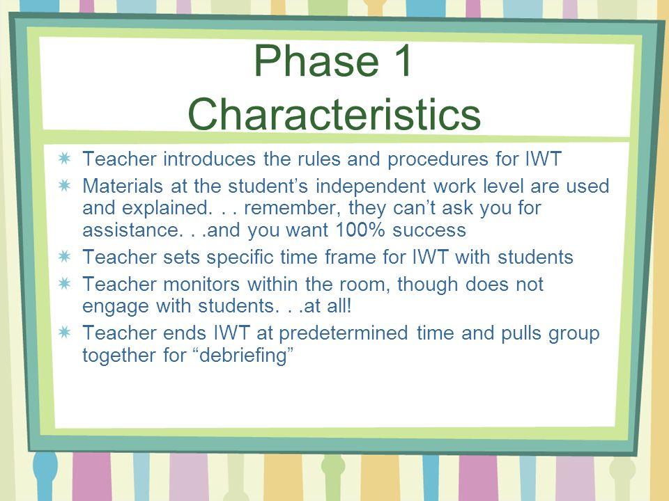 Phase 1 Characteristics