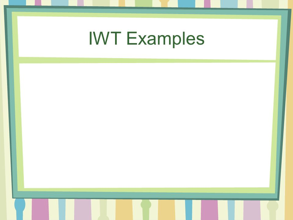 IWT Examples