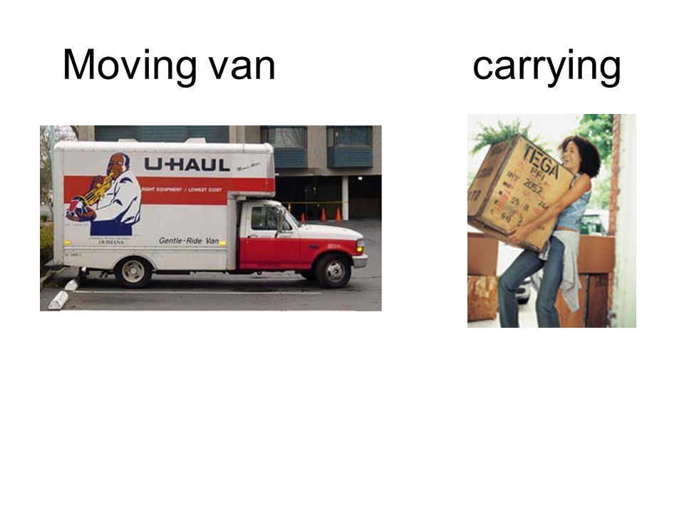Moving van carrying