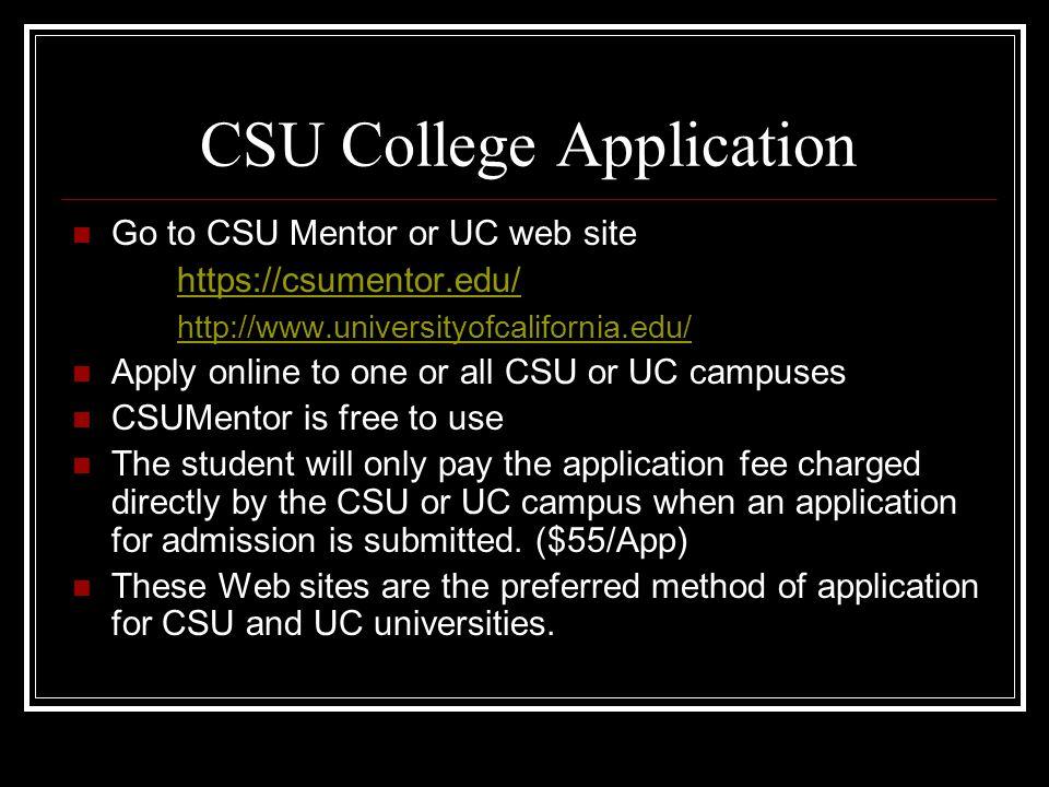 CSU College Application
