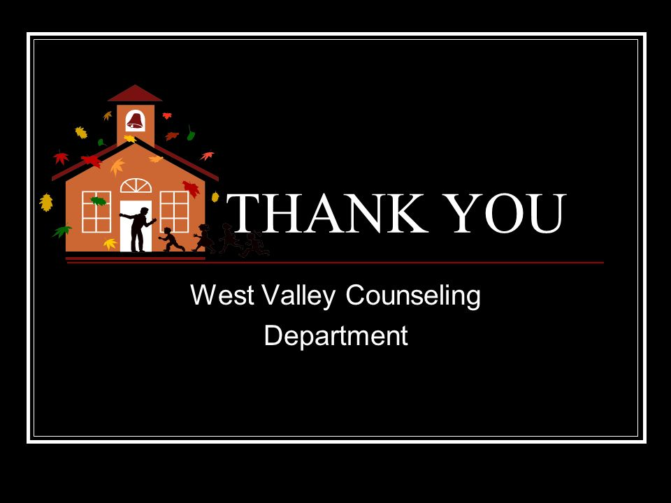 West Valley Counseling Department