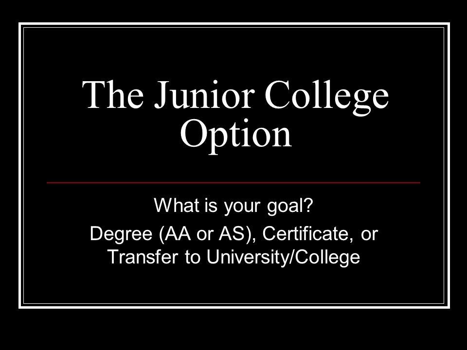 The Junior College Option
