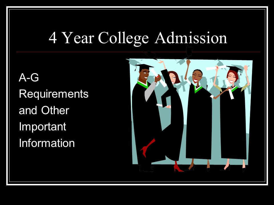 4 Year College Admission