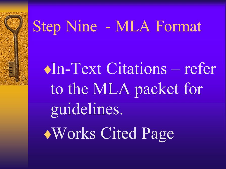 "mla research paper packet I-search packet  mla citation guide & ""what's new in mla style"" 26-32   your next project will be an i-search paper, in which you'll investigate a topic of  your own  research this topic for a while, and now is my chance."