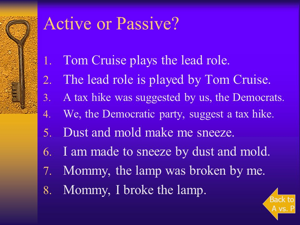 Active or Passive Tom Cruise plays the lead role.