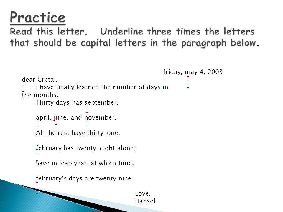 Practice Read this letter