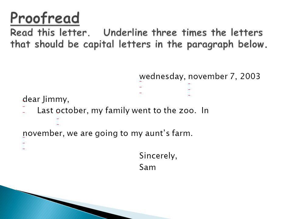 Proofread Read this letter