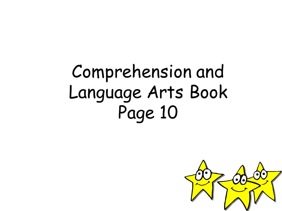 Comprehension and Language Arts Book Page 10