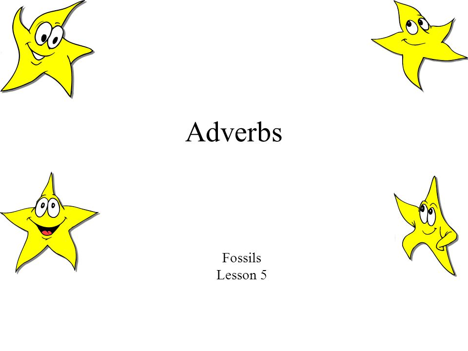 Adverbs Fossils Lesson 5