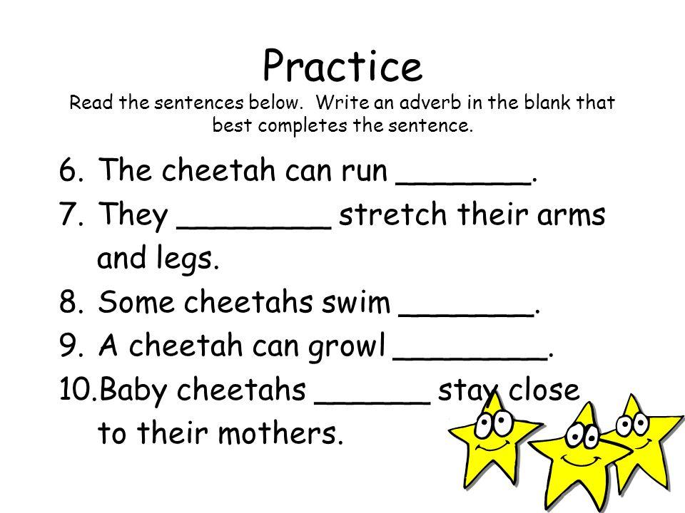 Practice Read the sentences below