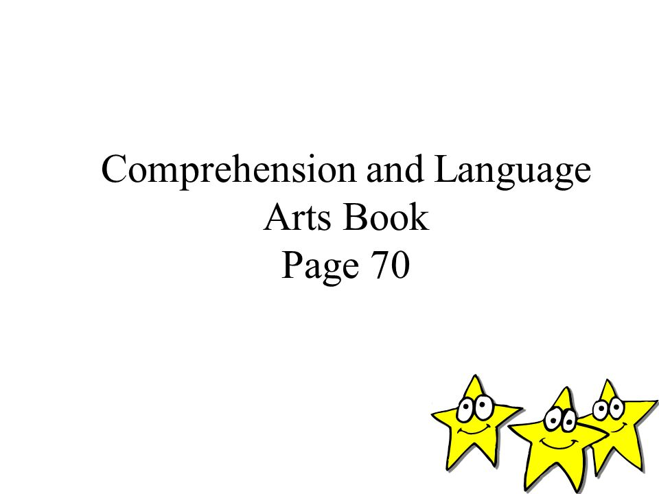 Comprehension and Language Arts Book Page 70