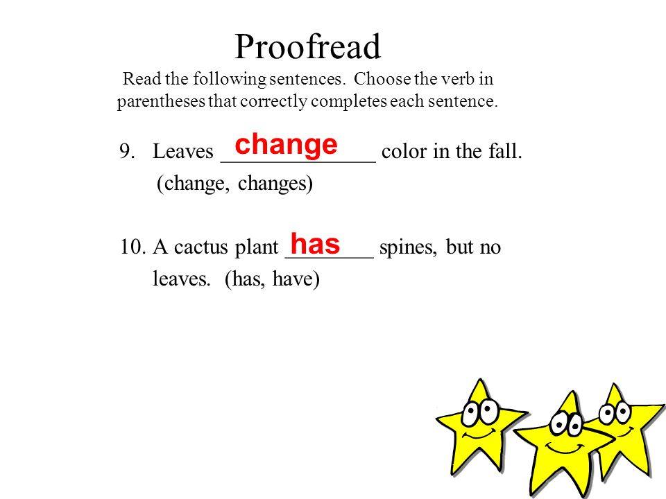 Proofread Read the following sentences