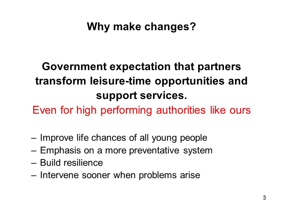Government expectation that partners