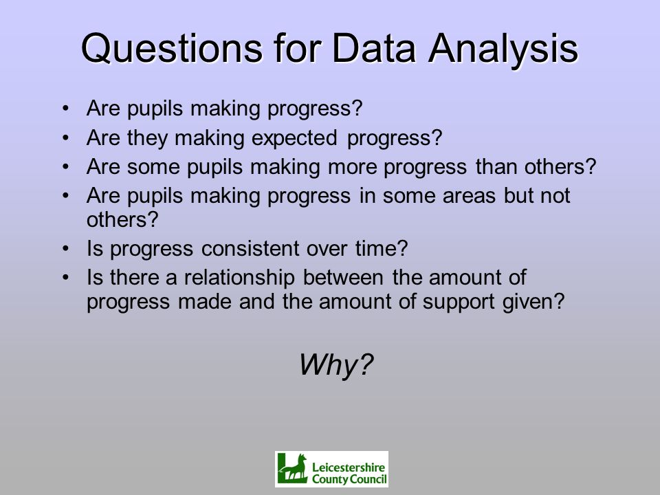 Questions for Data Analysis