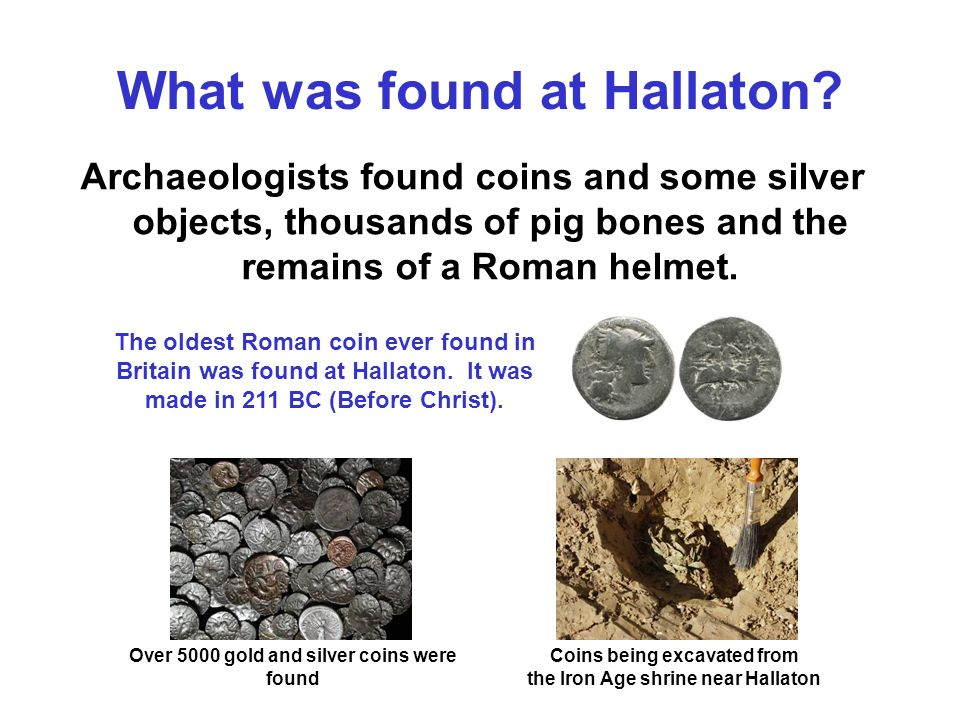 What was found at Hallaton