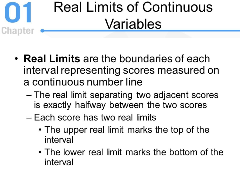 Real Limits of Continuous Variables