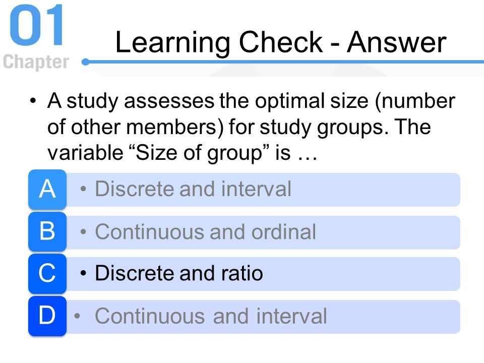 Learning Check - Answer