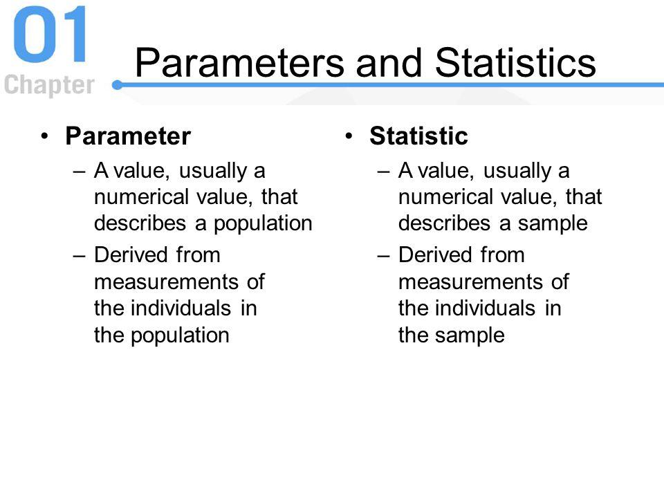 Parameters and Statistics