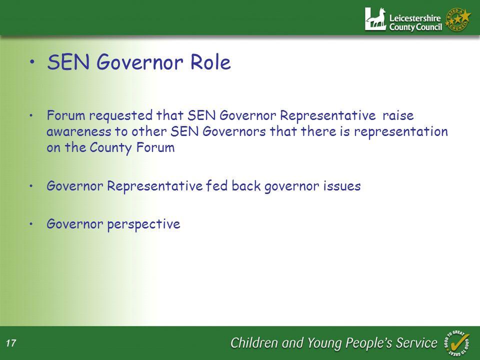 SEN Governor Role