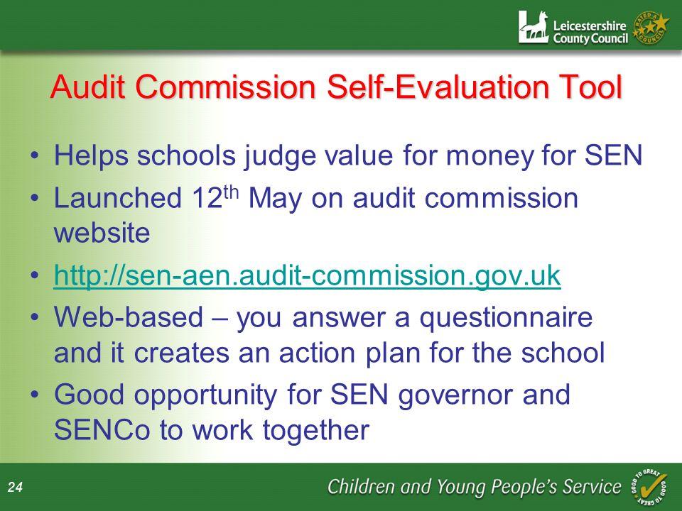 Audit Commission Self-Evaluation Tool