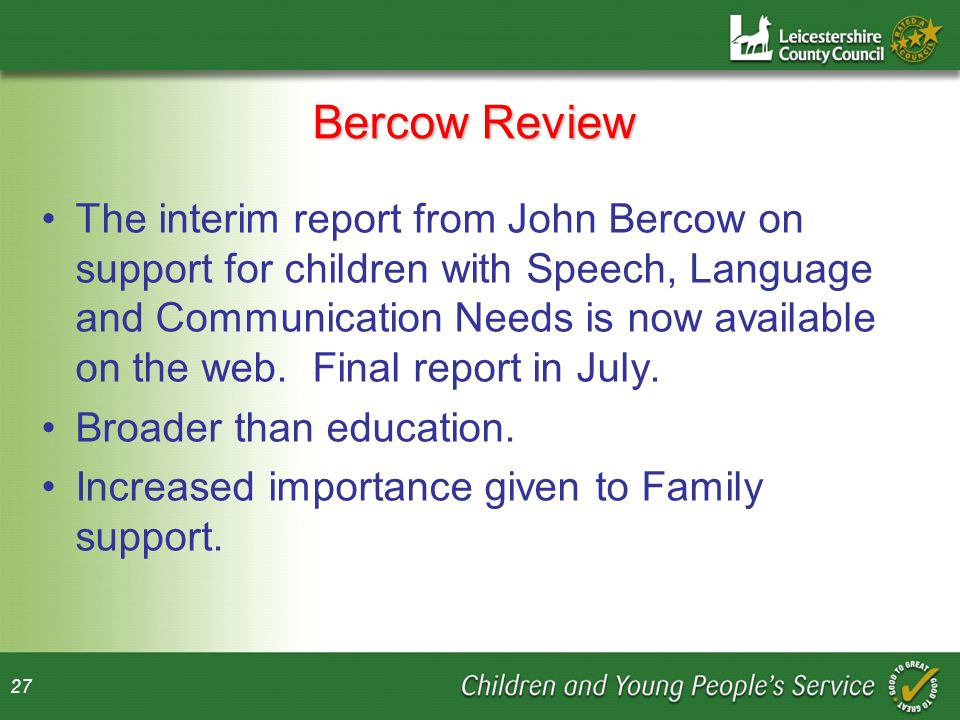 Bercow Review