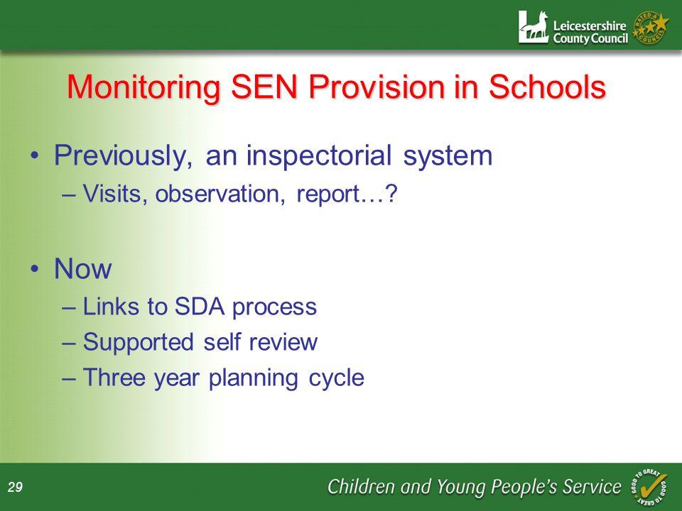 Monitoring SEN Provision in Schools