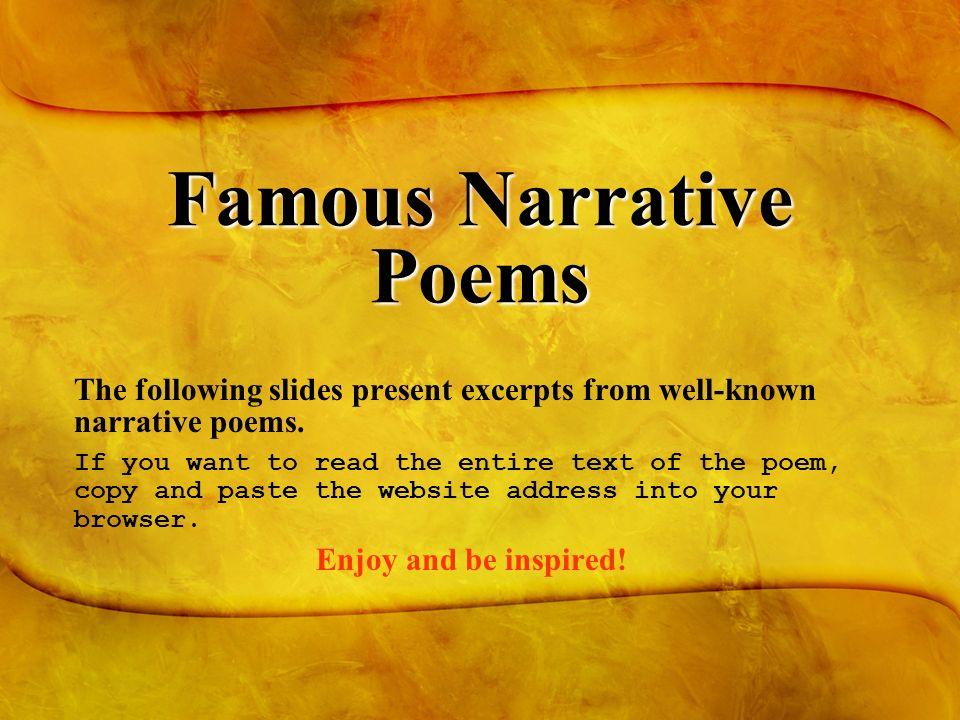 The Narrative & Lyric Poem - ppt download