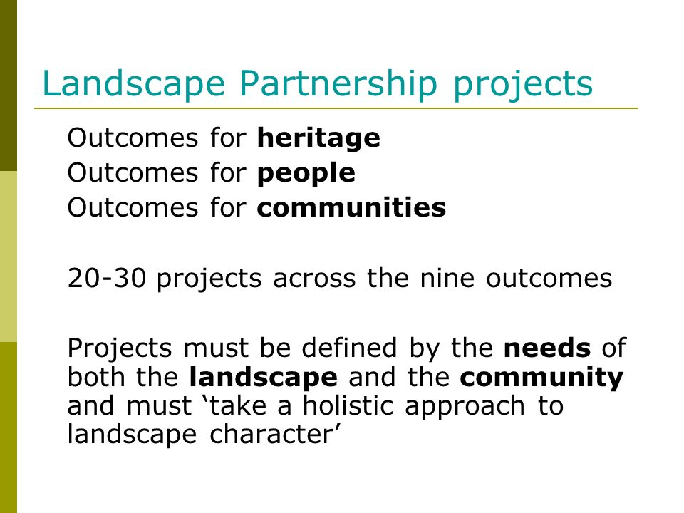 Landscape Partnership projects
