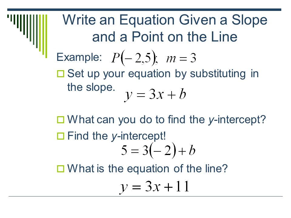 Write an equation in point slope form for the line passing through the given points