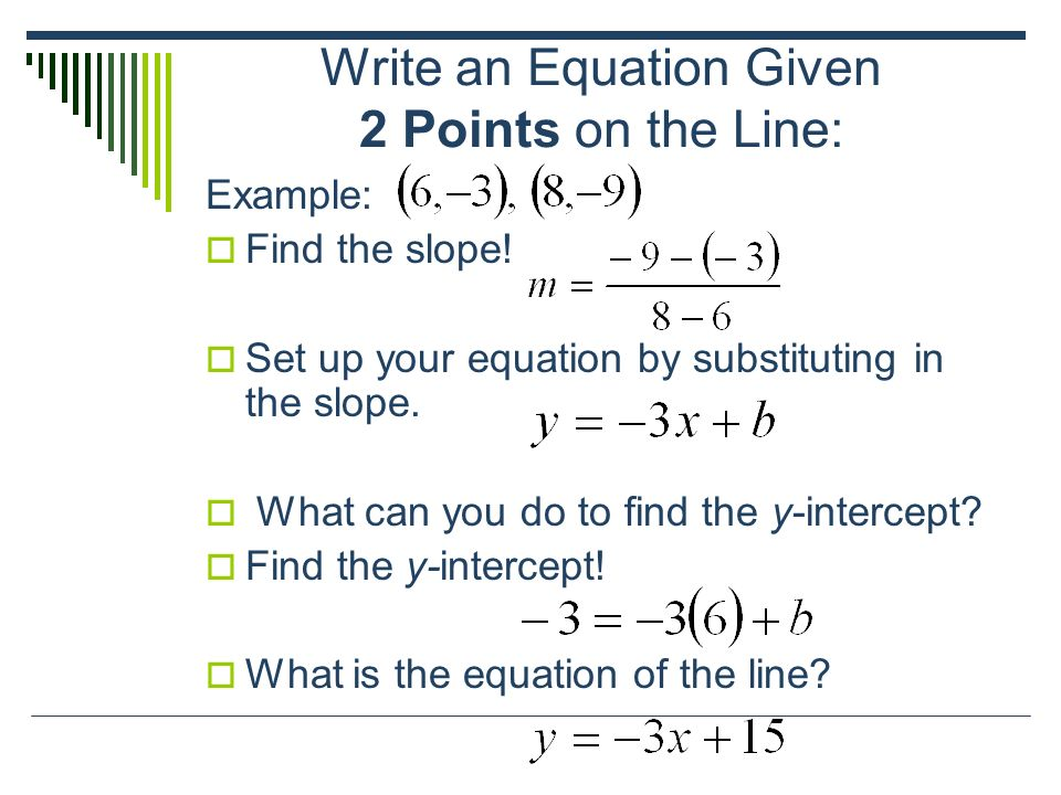 write an equation for each line