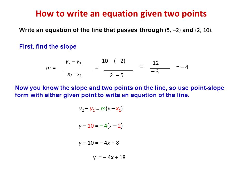 Write Equation of line mixed Review with answer key