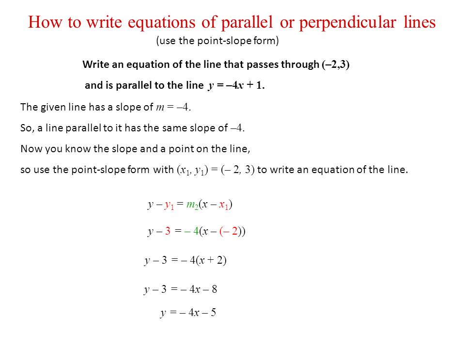 2.4 Essential Questions What is the point-slope form? - ppt download