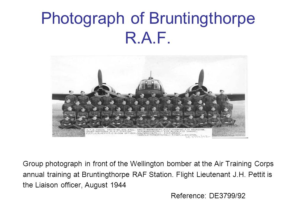 Photograph of Bruntingthorpe R.A.F.